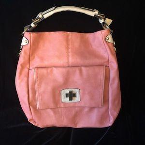 Trina & Co coral hand bag NWOT